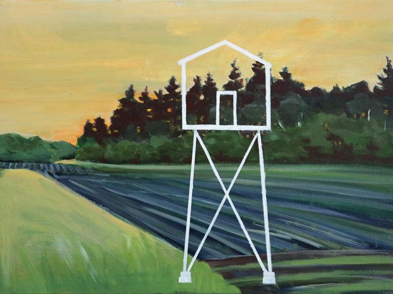Autark Jachthut, 70×50 cm, Acryl op doek, 2019