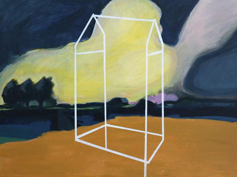 Autark Huis, 100×140 cm, Acryl op doek, 2019