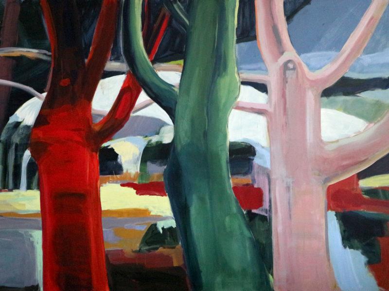 Dancing Trees, 180×150 cm, Acryl op doek, 2019