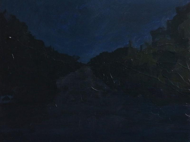 NOCTURNES 1, 30 x 24 cm, acryl op paneel, 2018