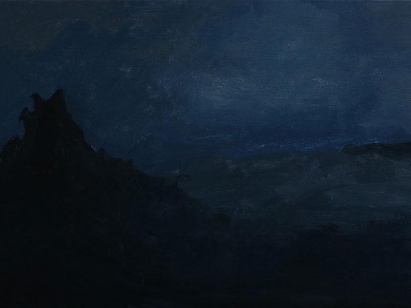 NOCTURNES 4, 30×48 cm, Acryl op paneel, 2019