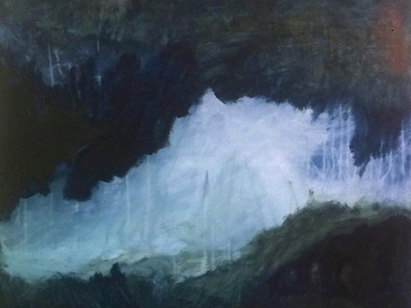 NOCTURNES 8, Geitenkamp, 80 x 100, Acryl op doek, 2019