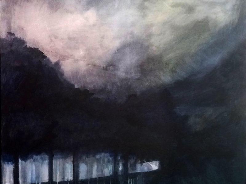 NOCTURNES 9,  Hommelse weg, 80 x 100, Acryl op doek, 2019