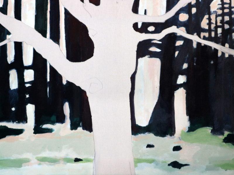Dancing Trees – Rozendaals Laantje 2 – 60 x 80 cm – Acryl op doek