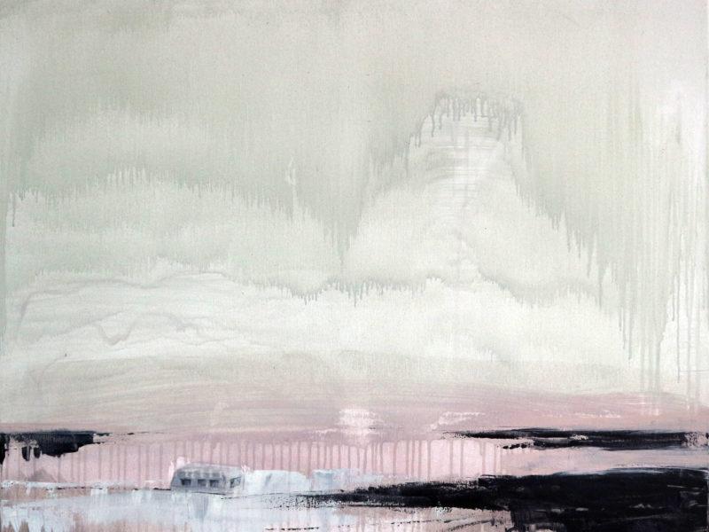 Zilte Caravan, 80×100 cm, Acryl op doek, 2018