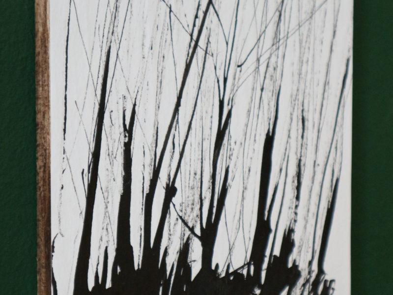 Boom#23, 12x15cm, inkt op papier, papier op hout, 2020