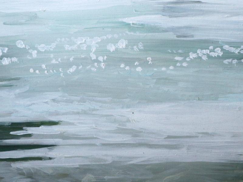 Rijn 3, 30×40 cm, Acryl op paneel, 2018