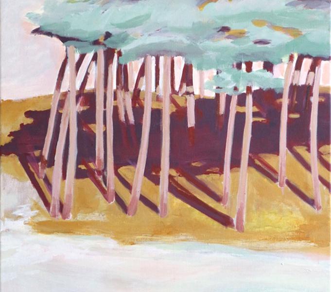 Zilte bomen, 80×100, 2019